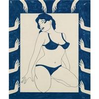 untitled (girl in bikini) by john wesley