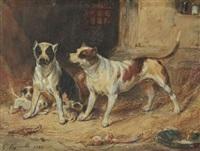 chiens et chiots au chenil by françois gabriel guillaume lépaulle