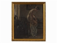 woman at her toilette by otto rauth