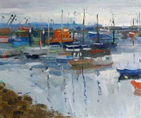 early morning, newlyn (+ another; 2 works) by bo hilton