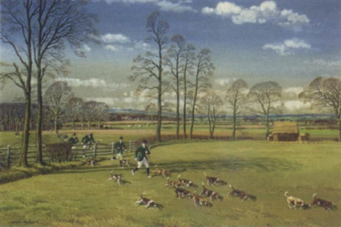 catterick beagles in the vale of mowbray yorkshire by joseph appleyard