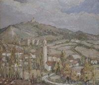 pueblo de guevara, alava. ruinas del castillo y del palacio by jesús apellániz