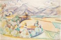 paysage près de mirmande by andré lhote