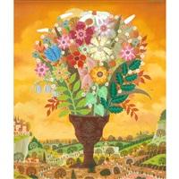 bouquet dans un paysage by alain thomas
