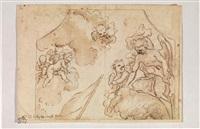 angelo e cherubini nelle nuvole by francesco (della polcevera) campora