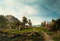 summer landscape by gustaf kinmansson