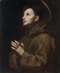 saint françois d'assise en prière by lorenzo lippi
