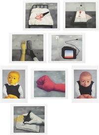 amnesia and memory (set of 12) by zhang xiaogang