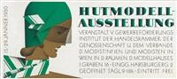 plakatentwurf, wir laden ein sozialistische bildungszentrale und hutmodell-ausstellung by peter tölzer