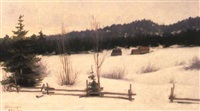 a winter landscape by charlotte amalie sannom