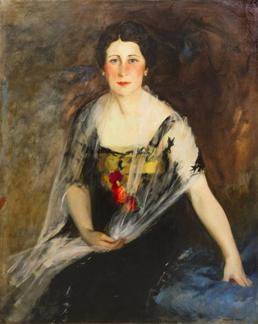 potrait of mrs charles weidemann by robert henri