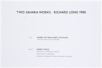 two sahara works (portfolio of 2 w/title) by richard long