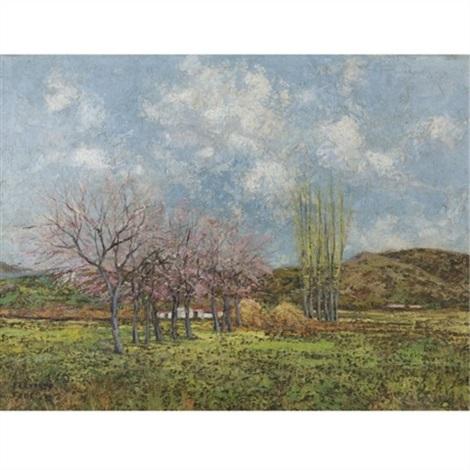 los parvines the haystacks by fernando fader