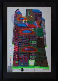 good morning city-bleeding town by friedensreich hundertwasser