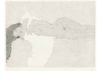 laying nude by matazo kayama