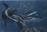 swordfish mako and squid by stanley meltzoff
