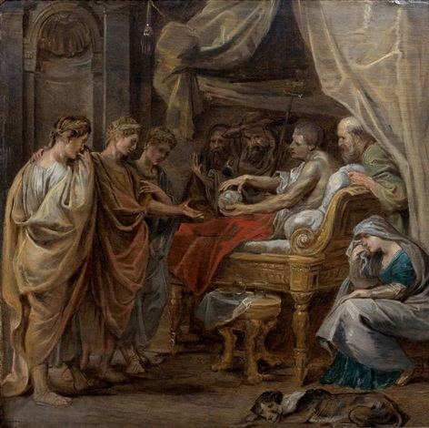 la mort de constantin by sir peter paul rubens