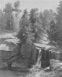 factory falls, dingmant's creek pike co, pa by hermann gustave simon