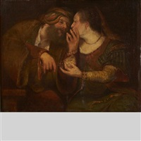 judah and tamar drinking from a chalice by aert de gelder