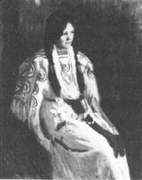 young native american woman by ellen day hale