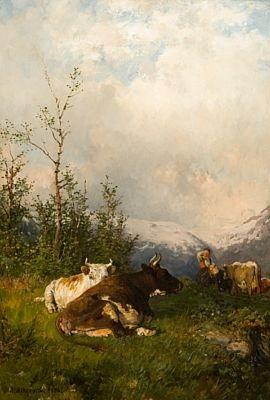 kyr og budeie i fjellet by anders monsen askevold