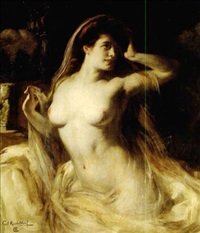 a voluptuous nude by carl kricheldorf