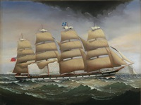 ourika crossing strait of dover by charles keith miller