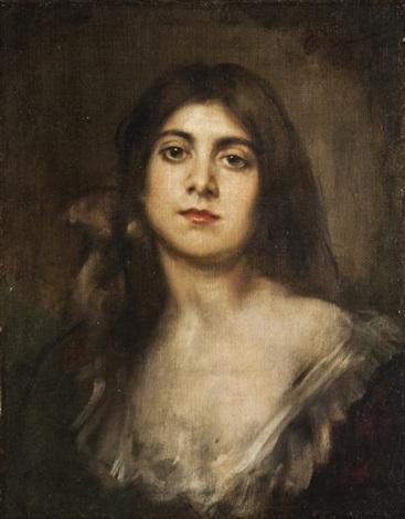 ritratto femminile by franz seraph von lenbach
