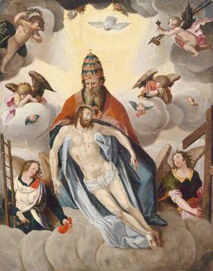 die heilige dreifaltigkeit gnadenstuhl by austrian school tyrolean 17
