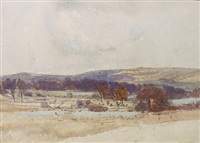 landscape (south downs) by oliver hall