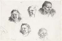 studies of female heads by isabel bishop