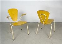 stuhl und armlehnstuhl (pair) by l. & c. arnold (co.)