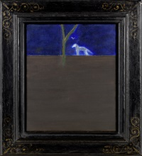 dog in blue horizon by craigie aitchison