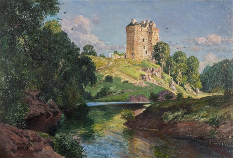 neidpath castle peebles by james mcintosh patrick