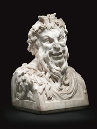 bust of a faun by jean raon