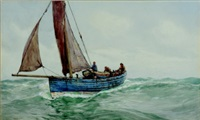 the scarborough fishing boat sh150 by ernest dade