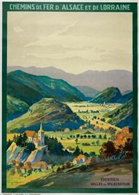 chemin de fer d alsace-lorraine oderen vallée de wildenstein by hans groiner