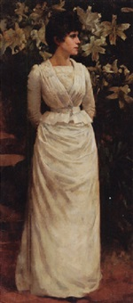 Lady in white, 1888–1888