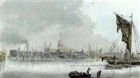 view of the thames with st. paul's in the distance, london by james miller