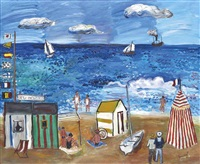 la plage à nice by carlos nadal