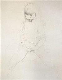 portrait d'enfant by graham ovenden