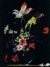 bouquet de fleurs et insectes by augustine vervloet