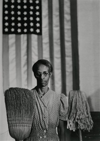 american gothic, washington d.c. by gordon parks