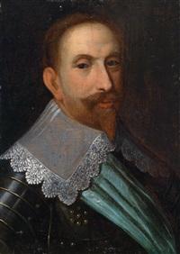 bildnis könig gustav adolf (adolf ii. von schweden) by jacob hoefnagel