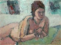 liegender akt (ake) by otto niemeyer-holstein