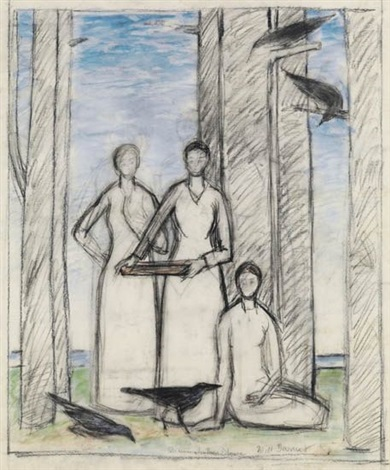 three muses by will barnet