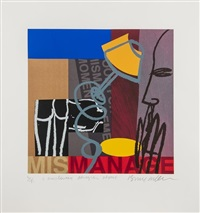 two figures and untitled (2 works) (3 works) by bruce mclean