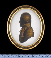 a silhouette of lord fitzroy somerset by john m. field