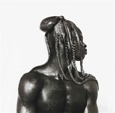 djimon with octopus hollywood by herb ritts