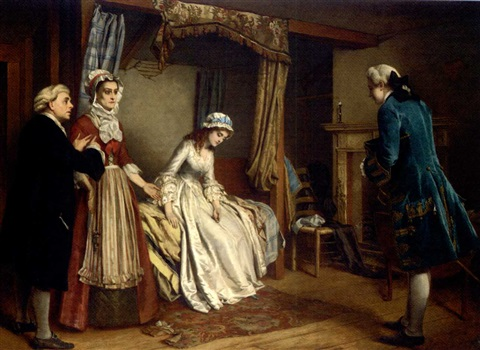 mr belford visits clarissa by william maw egley